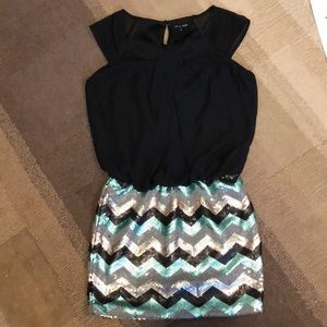 EUC As U Wish Sequin Party Mini Dress size S